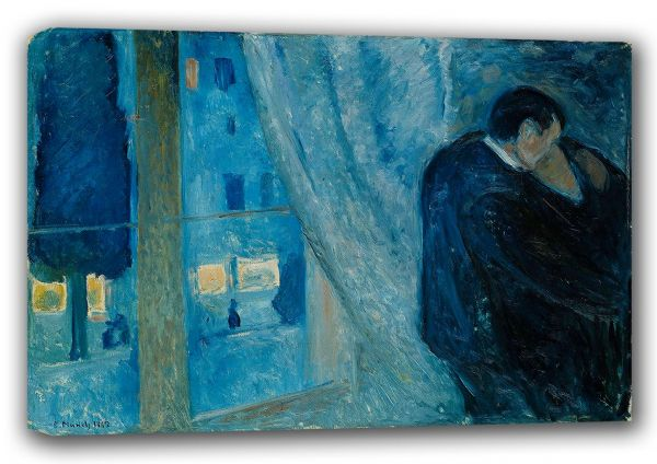 Munch, Edvard: Kiss by the Window. Fine Art Canvas. Sizes: A3/A2/A1 (00880)